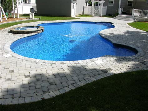 fiberglass swimming pool  attached spa  cool