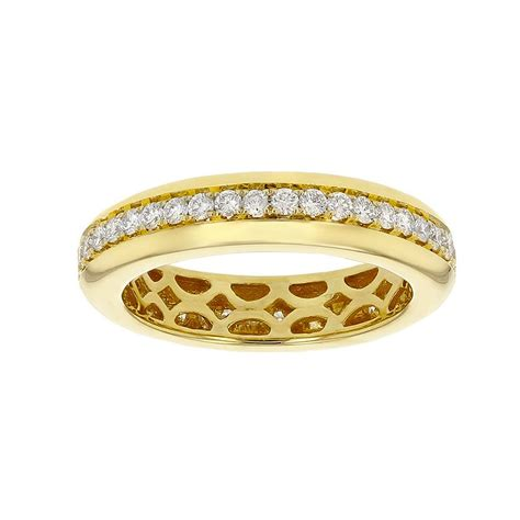 yellow gold diamond channel eternity band borsheims
