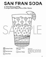 Cocktail Coloring Pages Designlooter Sample sketch template