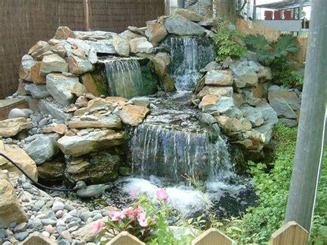 beautiful waterfalls  natural backyard  front