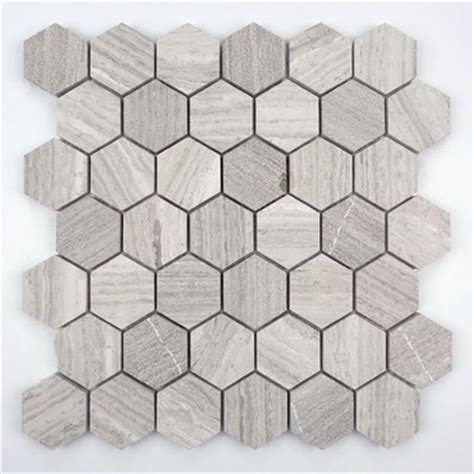 sale wood grain marble mosaic hexagon mosaic tiles for