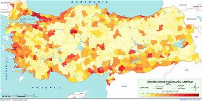 Population Turkey Density 2542 1275 Mapporn