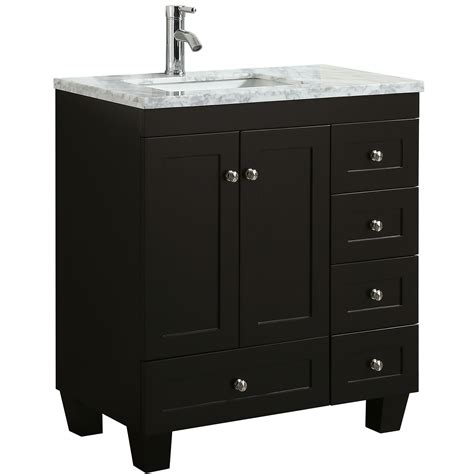 "Empire industries infinity 48 in w x 18 d double bath vanity oregon ash with ceramic top white dk48 04ioa1 the home depot. Eviva Happy 30"" x 18"" Transitional Espresso Bathroom ..."