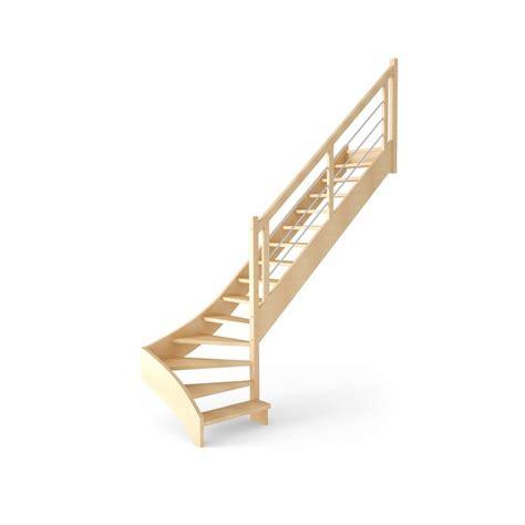 escalier fouesnant quart tournant en bois 15 marches