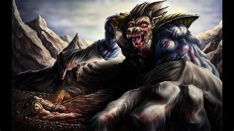son goku  great ape vegeta speed painting youtube