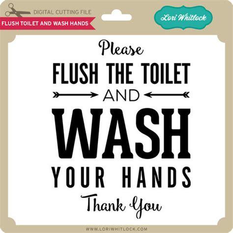 flush toilet and wash lori whitlock s svg shop