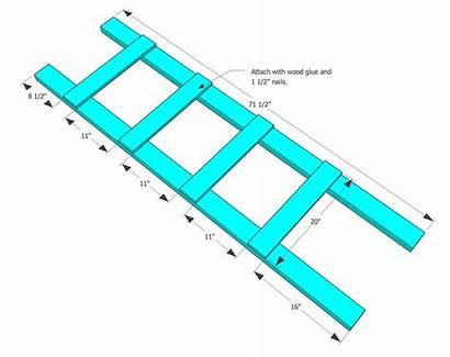 Ladder Blanket Plans Diy Quilt Ladders Wood