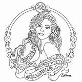 Coloring Aquarius Pages Zodiac Taurus Astrology Adult Printable Adults Colouring Signs Sheets Mandalas Beauty Drawing Drawings Designs Tattoo Therapy Embroidery sketch template