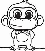 Monkey Drawings Coloring Pages Clipartmag sketch template