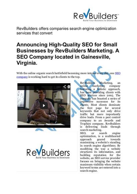 seo search engine optimization services revbuilders offers companies search engine optimization