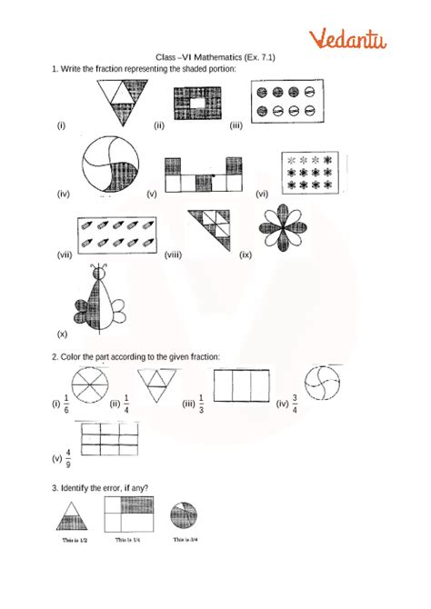 ncert solutions  class  maths chapter  fractions
