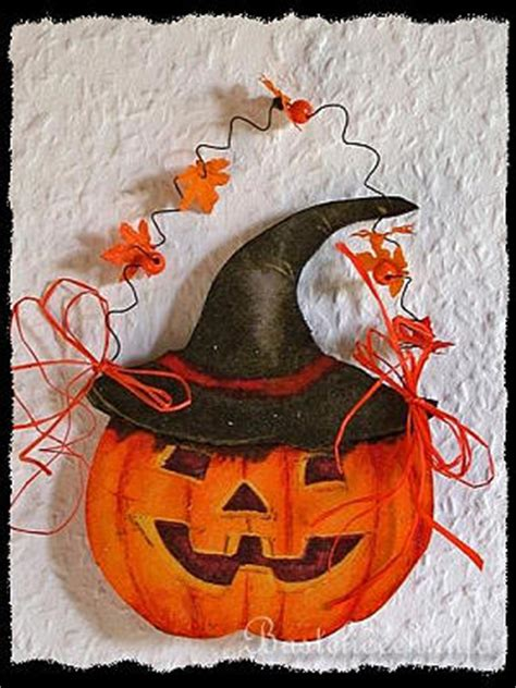 basteln im herbst halloweenbasteln kuerbis aus holz