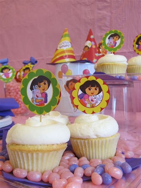 ideas  dora cupcakes  pinterest dora
