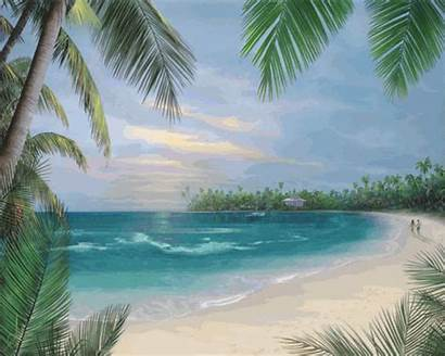 Tropical Paradise Islands Beach Island Background Animated
