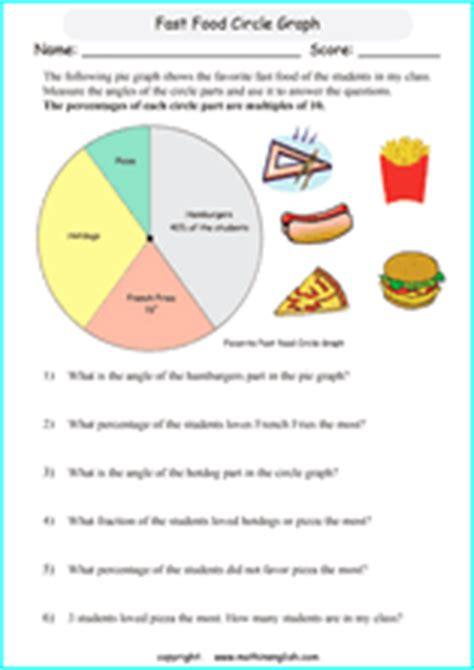 circle graphs worksheets   grade circle graph