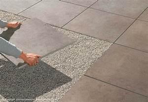 Feinsteinzeug Fliesen Außenbereich Verlegen : dachterrasse platten im splittbett fr25 hitoiro ~ Michelbontemps.com Haus und Dekorationen