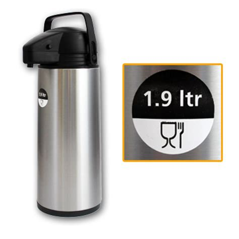Thermoskanne Mit Pumpe by 1 9l Edelstahl Thermoskanne Mit Pumpe Isolierkanne
