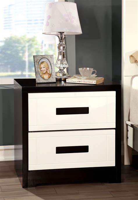 Black And White Nightstands by Rutger White And Black Stand From Furniture Of