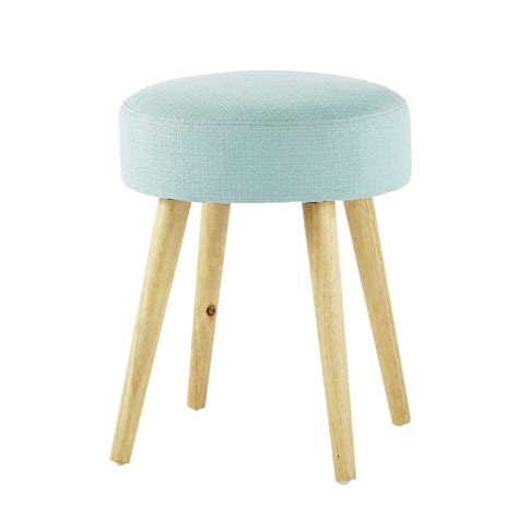 Sgabelli Maison Du Monde by Pin Up Wood And Fabric Stool In Blue Maisons Du Monde