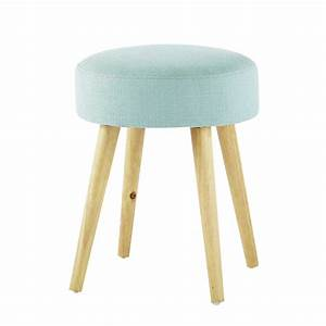 Maison Du Monde Tabouret : pin 39 up wood and fabric stool in blue maisons du monde ~ Teatrodelosmanantiales.com Idées de Décoration
