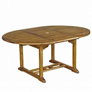Table De Jardin Ovale : table de jardin ovale teck huil 6 8 personnes larg 120 cm ~ Dailycaller-alerts.com Idées de Décoration