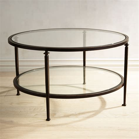 Runder Glas Couchtisch by Lincoln Tempered Glass Top Coffee Table