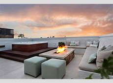 rooftop hot tub patio beach style with built in bench