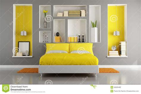 chambre photographie chambre à coucher moderne jaune et grise photographie
