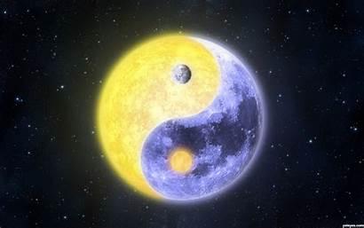 Moon Sun Yang Yin Backgrounds Celestial Ii