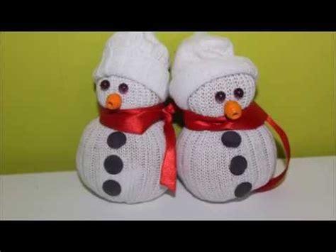 diy no 235 l bonhomme de neige en chaussettes