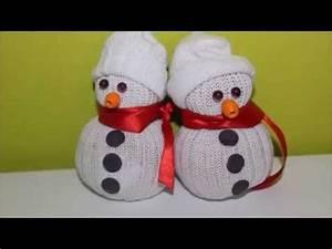 Chaussettes À Neige : diy no l bonhomme de neige en chaussettes youtube ~ Carolinahurricanesstore.com Idées de Décoration