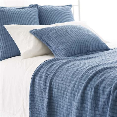 Blue Coverlets For Beds by Boyfriend Blue Matelass 233 Coverlet Pine Cone Hill
