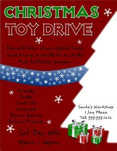 free christmas toy drive flyer template to download