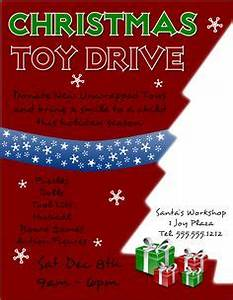 Free Christmas Toy Drive Flyer Template to