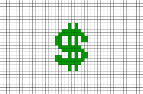 dollar sign pixel art brik