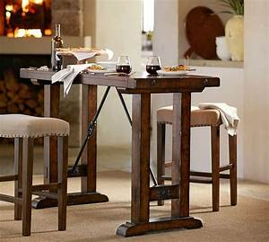 benchwright bar height table pottery barn With barnwood counter height table