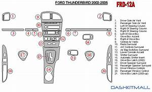 Ford Thunderbird 02 03 04 05 Dash Trim Kit 2002 2003 2004