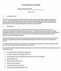 sample statement of work template 11 free documents With statement of works template