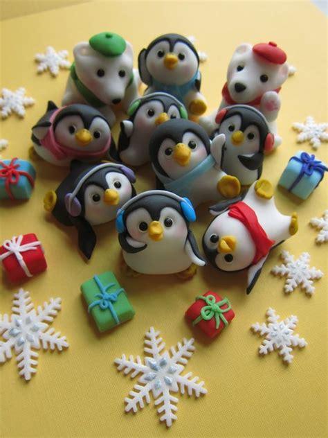 figurine en pate fimo penguin family cupcake by mimicafe union http www mimicafeunion porcelana fria pasta