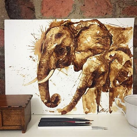 Free for commercial use no attribution required high quality images. Incredible Coffee Paintings by Maria Aristidou | Design