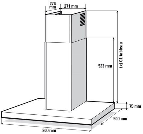hauteur d une hotte de cuisine hotte décorative shb4917x sauter électroménager