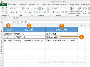 how to print barcodes with excel and word clearly inventory With how to create barcode in excel