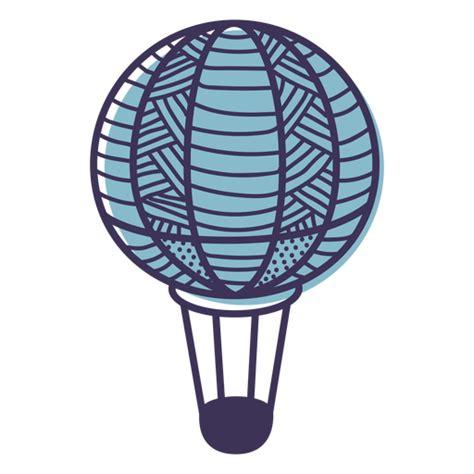 Línea patrón de globo de aire caliente Descargar PNG/SVG
