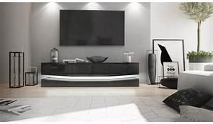 Meuble Tele Suspendu : meuble t l suspendu led pour salon ~ Teatrodelosmanantiales.com Idées de Décoration