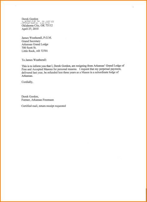 letter of resignation template 10 standard resignation letters officeaz 43984