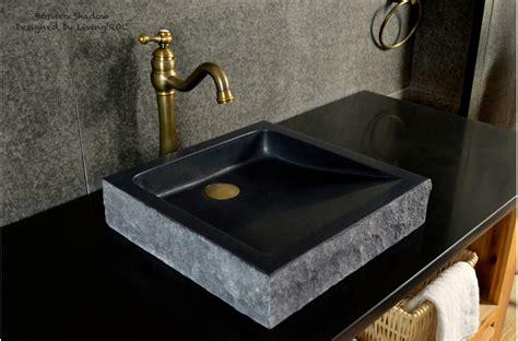mm black basalt stone vessel basin borneo