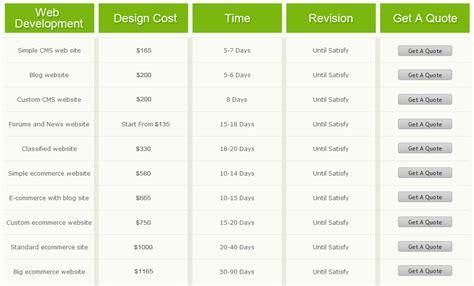 web design pricing ecommerce website development services web development india
