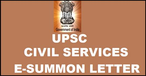 upsc civil services  summon letter  personality test