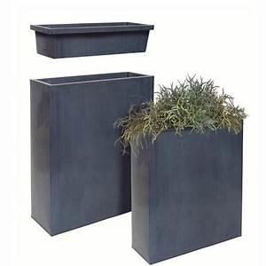 Bac A Fleur Muret : bac fleurs acier l60 h76 cm noir ps et pots ~ Teatrodelosmanantiales.com Idées de Décoration