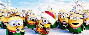 Merry Christmas and Happy New Year Minions animated GIF